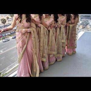 Gold and pink sari